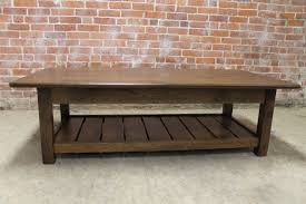 rustic coffee table with slatted shelf design ecustomfinishes