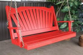qualities composite porch swing home design ideas