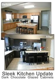 kitchen cabinet restoration kit kitchen cabinet paint kit before and after chocolate brown kitchen