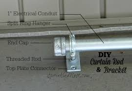 diy curtain rod and bracket sprinkled nest