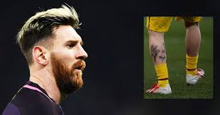lionel messi appears to have coloured in his leg tattoo with a
