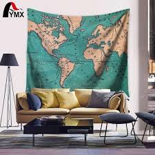 cheap retro home decor wall tapestries vintage retro world map home decor retrohomedecor