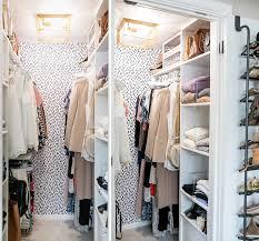 Wallpaper Closet Closet Makeover Organization Tips For An Efficient Tiny Closet