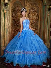 quinceanera dresses 2014 appliques ruffles gown organza blue best quinceanera dresses 2014