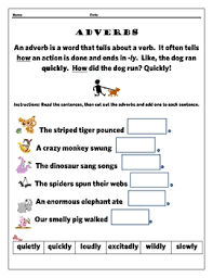 simple adverbs cut u0026 paste free by tangled with teaching tpt