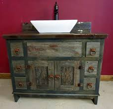 Furniture Vanity For Bathroom Antique Gray Barnwood Vessel Vanity Barn Wood Furniture Rustic