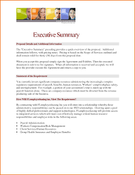 9 executive summary sample financial statement form