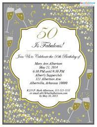 free 50th birthday party invitations gallery invitation design ideas