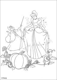 cinderella fairy godmother coloring pages hellokids