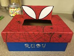 spider man valentine shoe box my diy pinterest spider man
