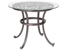 round bistro table outdoor woodard new orleans cast aluminum 36 round glass top bistro table
