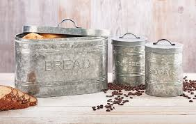 metal storage canister rustic kitchen coffee amici home rustic