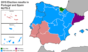 Spain Portugal Map by 2015 Election Results In Both Portugal And Spain Nuts 2