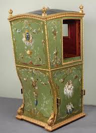 Louis Seize Chair Green 18th Century Louis Xvi Sedan Chair With Original Red