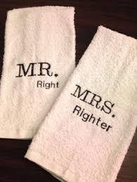 wedding gift towels mr mrs towels wedding gift bridal shower gift