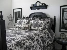 Black And White Toile Bedding Custom Made Black And White Toile Bedding Black And White Country