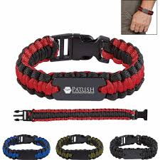 buckle paracord bracelet images Promotional paracord bracelet with metal plates with custom logo jpg