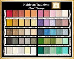 Chalk Paint Colors For Furniture by Color Chart For Heirloom Traditions Chalk Paint You Can Buy Any