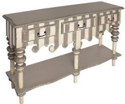Painted Console Table Mackenzie Childs Style Whimsical Coastal Cottage Painted Console