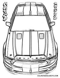mustang coloring pages bestofcoloring com