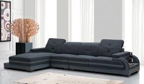 Modern Sectional Sofa Bed Divani Casa 5132 Modern Sectional Sofa In Blue U0026 Grey Free