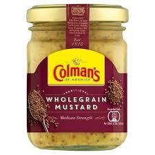 colman s mustard colmans wholegrain mustard 150ml