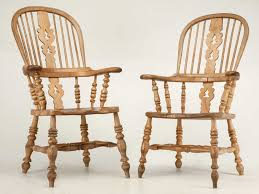 Antique English Windsor Chairs Pair Antique English His U0026 Her Windsor Chairs For Sale Old Plank