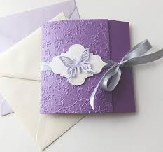 handmade wedding invitations butterfly handmade wedding invitation purple lavender wedding