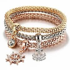 silver necklace bracelet set images I 39 s 3 bracelets multilayer gold silver rose gold corn jpg