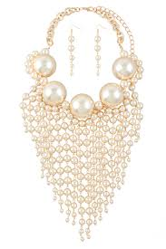 big fashion pearl necklace images Big pearl necklace with pearl drop jpg