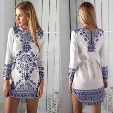 blue white porcelain print dresses online blue white porcelain