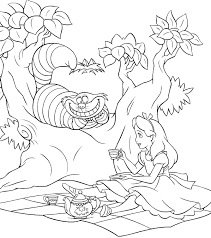 alice wonderland coloring pages tim burton coloring pages