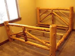 king log bed frame best log bed frame ideas on rustic bed frames