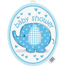 blue baby shower buy mini blue elephant baby shower cut out decorations 8pk in