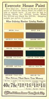 a 1917 colour chart for house colors old house colors