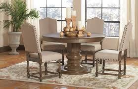 Parson Chairs Table Set 5 Pcs Antique Ash Brown Parson Chairs Dining Table Set