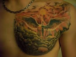 tattoos helios sun god on chest