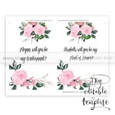 bridesmaid card wording will you be my bridesmaid card editable template blursbyai