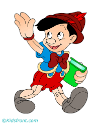 baby pinocchio coloring pages kids color print