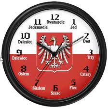 polish flag eagle wall clock
