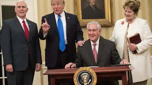 Us Cabinet Secretary Trump Cabinet Rex Tillerson Sworn In As Us Secretary Of State