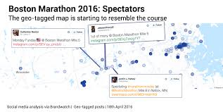 Map Of Boston Marathon Course by The Boston Marathon Races Ahead On Social Media Brandwatch