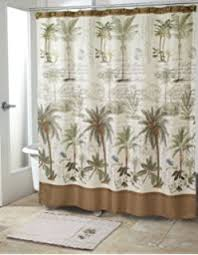 Brentwood Originals Curtains Amazon Com Bacova Guild Citrus Palm Fabric Shower Curtain Beige