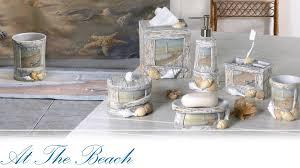 Beach Bathroom Decor Ideas In Lovely Storage Under Round Mirror