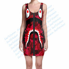 cool dresses custom made cool ape 3d sublimation print milk silk dress women