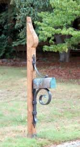 Rustic Iron Mail Slot Outdoor - iron mailbox post foter