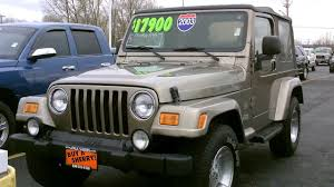 jeep maroon color 2003 jeep wrangler sahara suv tan for sale dayton troy piqua