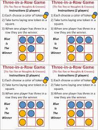 tic tac toe noughts and crosses instructions printables