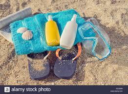 flip flop towel the summer skin care kit towel flip flop snorkel and book