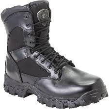 rocky 8 u201d waterproof side zipper composite toe duty boot on